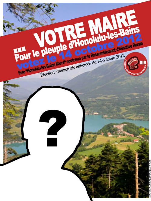 affiche election municipale 2014