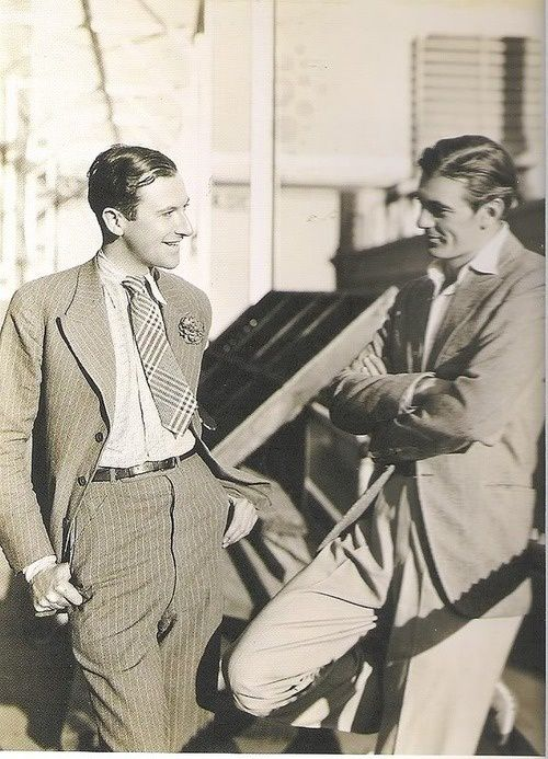 Cecil Beaton chatting up Gary Cooper, 1930s