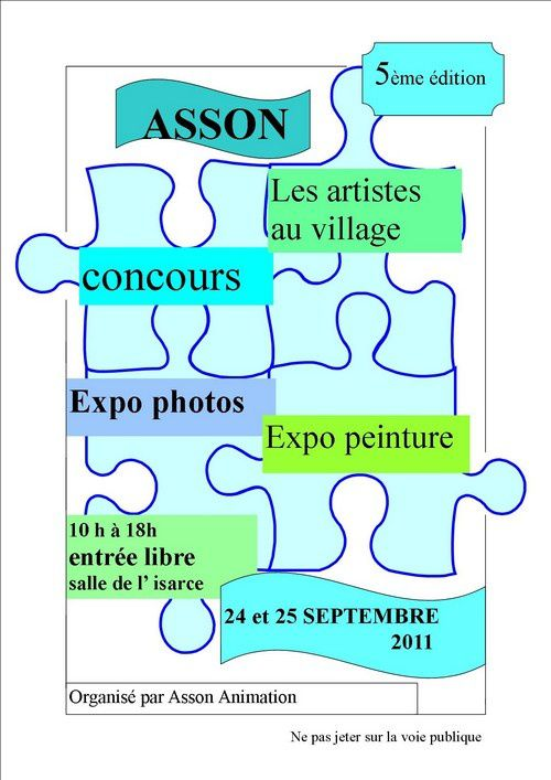 affiche expo photo-peinture