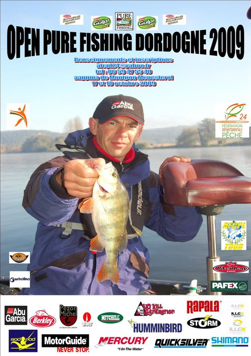 OPEN PURE FISHING DORDOGNE 2009 AFFICHE-OPEN-24-2009
