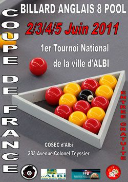 coupe de france albi 2 et 3 juin blog 8 pool ligue de bretagne de billard. Black Bedroom Furniture Sets. Home Design Ideas