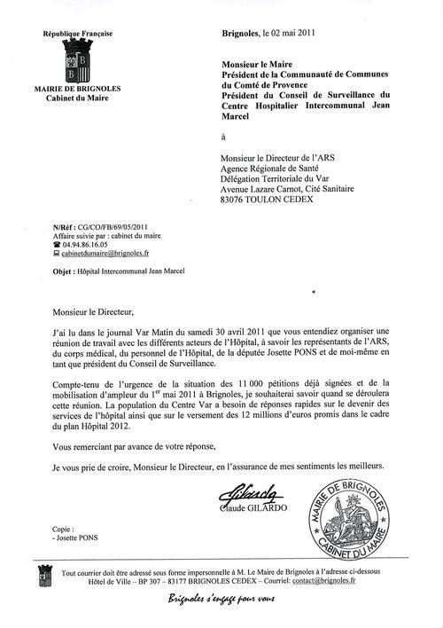 H pital brignoles une lettre de claude gilardo sans r ponse pcf brignoles for Cuisinella brignoles roubaix