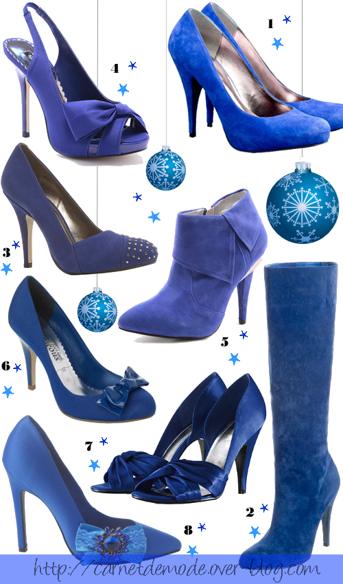 selection chaussures blue