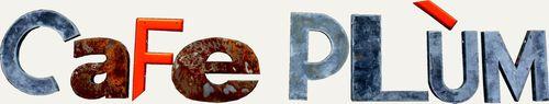 Logo Café Plùm-fond beige-contrasté-red
