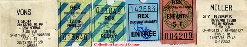 10 - Rex Chatenay Ticket