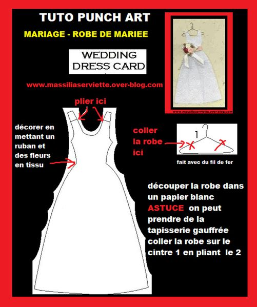 CARTE LES MARIES - robe costume carte pop up wedd-copie-8