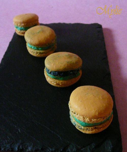 macarons façon thé à la menthe 3