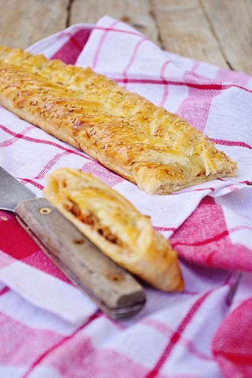 Feuilleté au thon et mozzarella