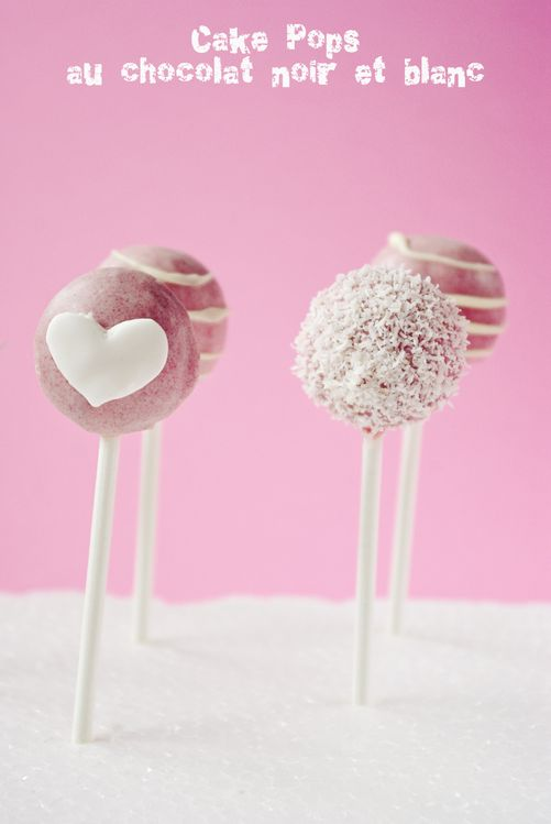 Cake pop's au chocolat noir et blanc 0