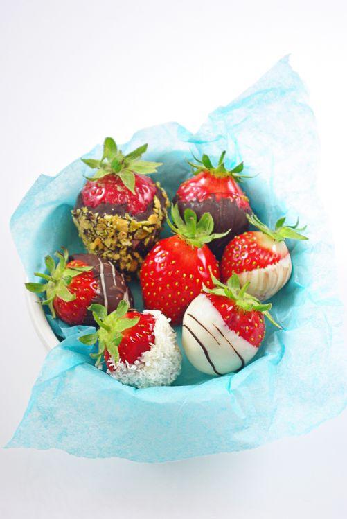 Truffes de fraises