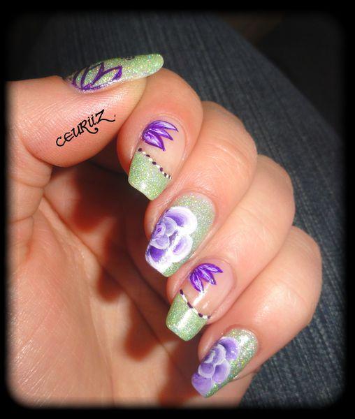 grenn & purple