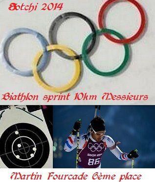 Sotchi-biathlon-10 km-6ème place pour Martin Fourcade-