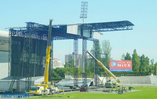 Sticky & Sweet Tour: the stage in Nice, France