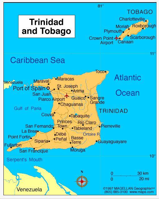 Carte Tobago Trinidad3