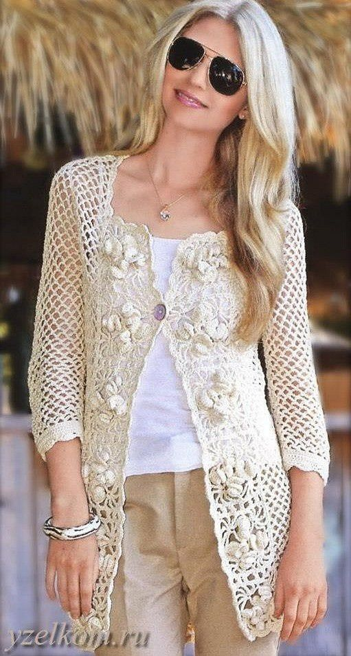 Free Crochet Pattern For Ladies Gilet : 1000+ images about Crochet Cardigans/Boleros/Shrugs on ...