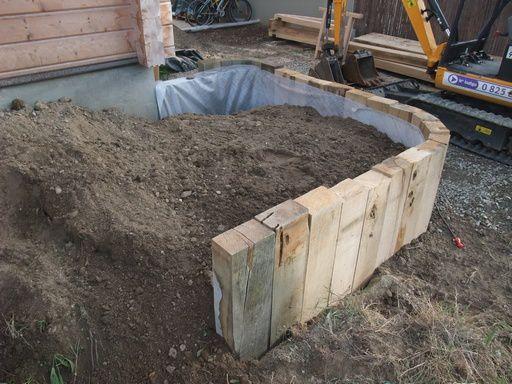 am nagement du jardin 2012 une maison en madriers lancieux. Black Bedroom Furniture Sets. Home Design Ideas
