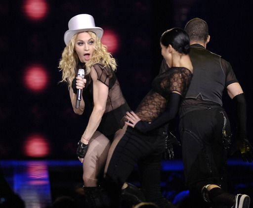 Madonna wows fans during a sold out show at the United Center
