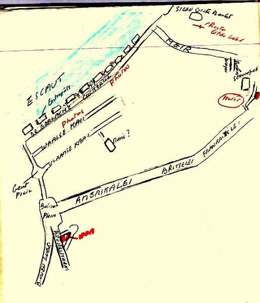 Anvers Plan du Steen161