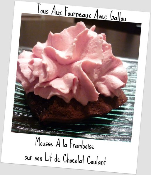 coulant au chocolat mousse à la framboise (2)