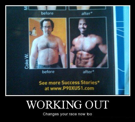 Motivational Pictures  Working  on Working Out Has Side Effects