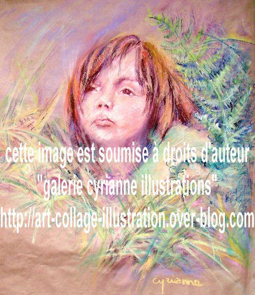 illustration-le-mioche-enfant-pastel-sec-droits-auteur.JPG