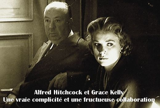 Alfred Hitchcock et Grace Kelly