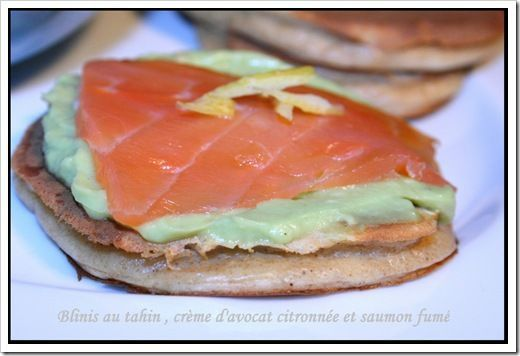 Blinis au tahin et sa cr&#xE8;me d'avocat (1)