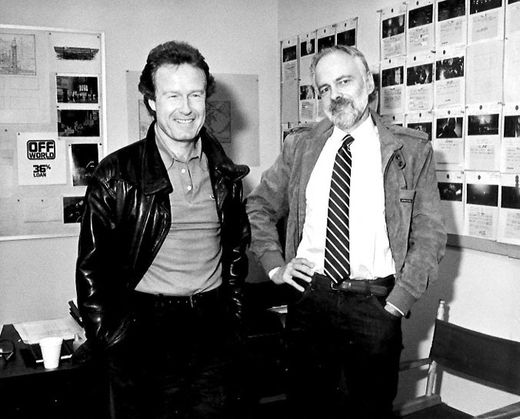 Ridley Scott et Philip K. Dick en 1981, lors de la production de Blade Runner