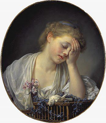 Jean Baptiste Greuze, A Girl with a dead canary