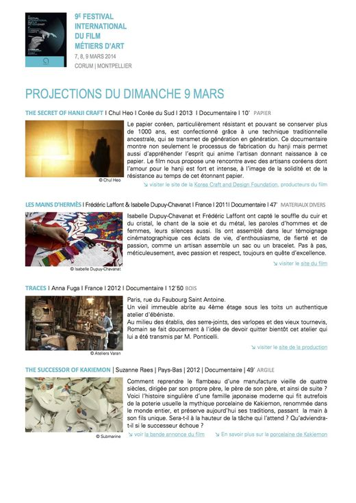 2014 Synopsis dimanche