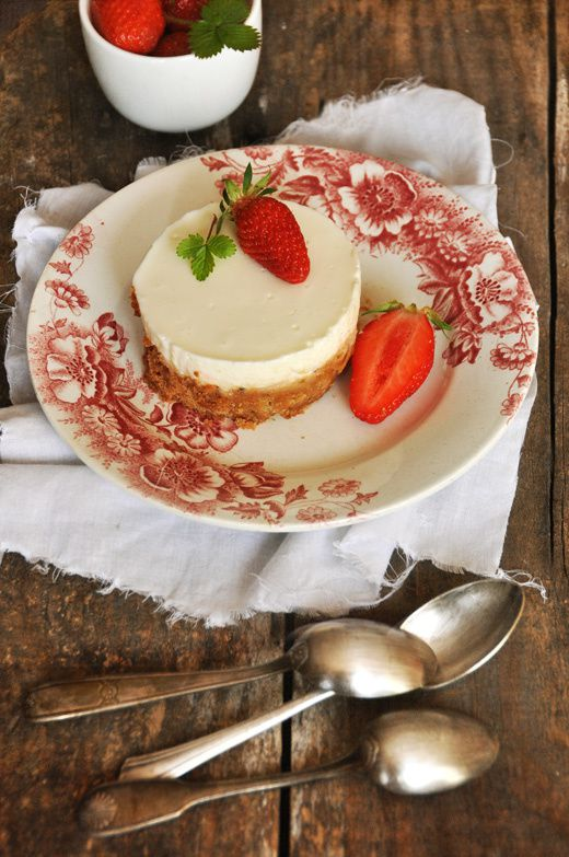 Cheesecake citron sans oeuf fraises