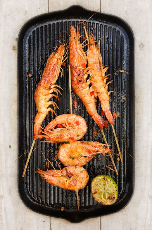 Gambas grills facile