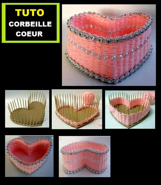 panier coeur tuto r cup recycling tutoriel diy tutorial. Black Bedroom Furniture Sets. Home Design Ideas