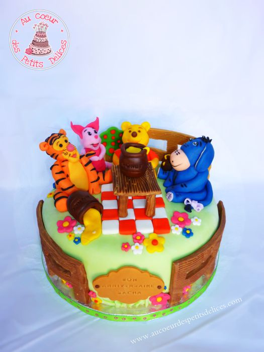 decoration gateau winnie l'ourson