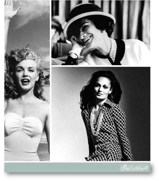 fashion ballyhoo - icones marilyn coco chanel diane von fu