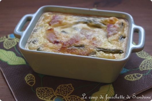 clafoutis haricot pancetta