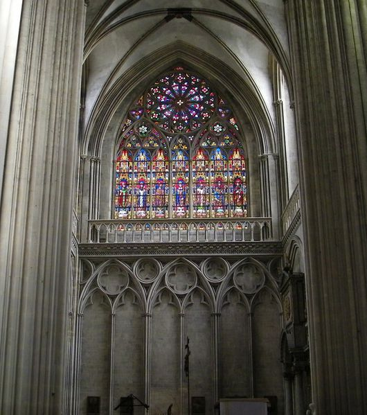 241 North Transept window, Notre-Dame Cathedral, Bayeux