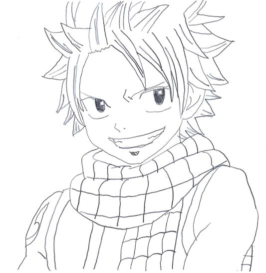 The gallery for fairy tail natsu coloring pages - Image de dessin facile ...