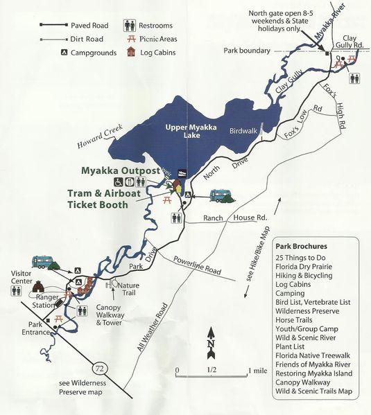 Plan de Myakka River State Park
