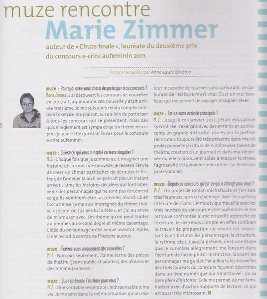 MUZE rencontre Marie ZIMMER 001