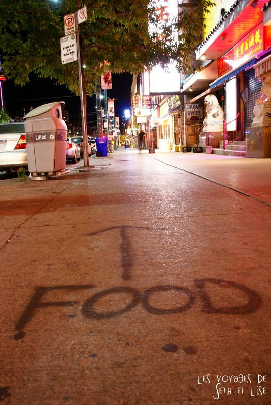 food tag graph sidewalk