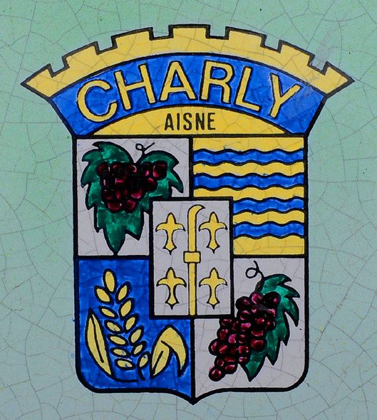Blason de CHARLY-SUR-MARNE ( Photo Didier Simonnet )