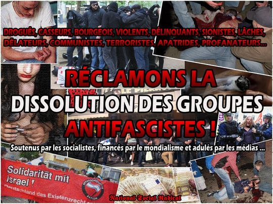 Dissolution des antifas