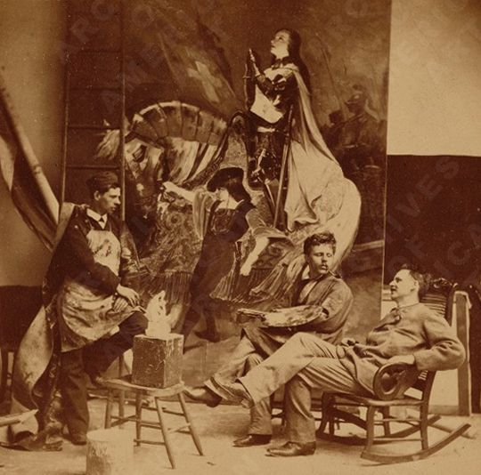 Frank-Duveneck--in-his-studio--with-Frank-Dengler-and-H.F.-.jpg