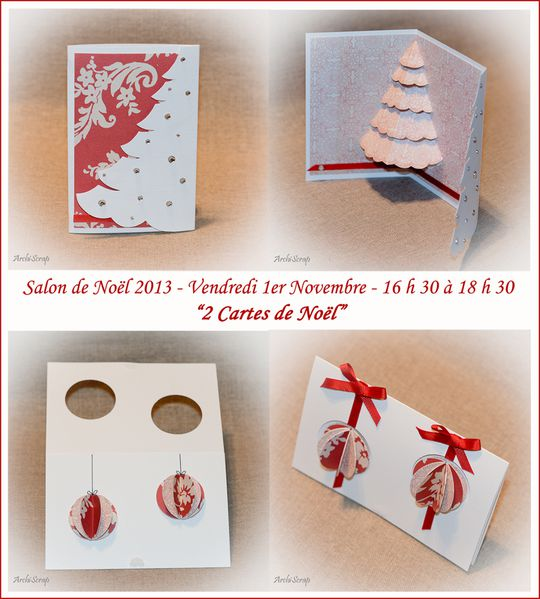 Cartes Noel Rouges RED
