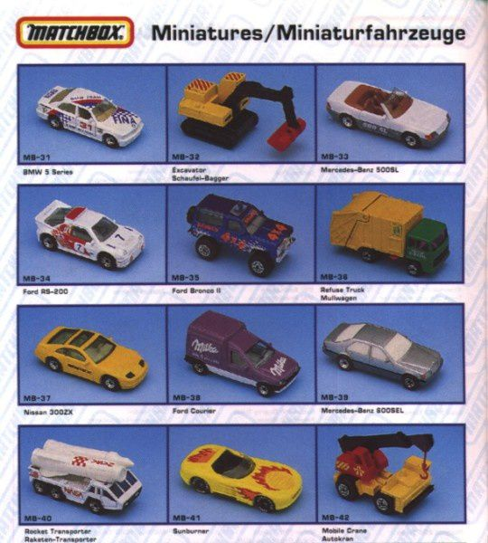 catalogue matchbox annee 1992 s04