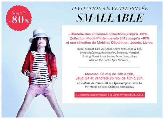 vente priv&#xE9;e smallable mai 2012