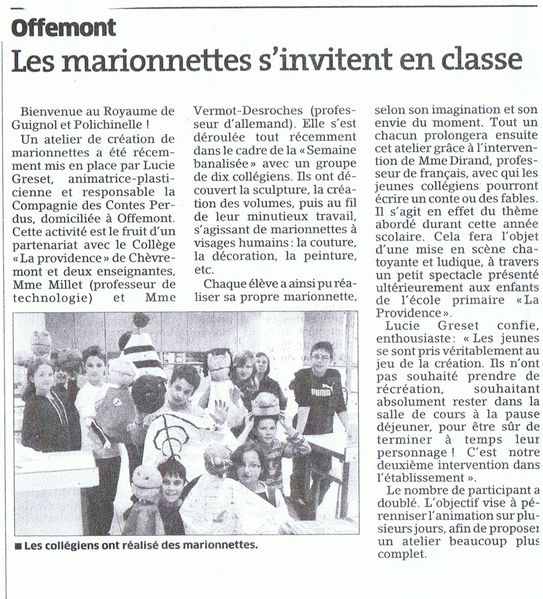 article 2 college mai 2010