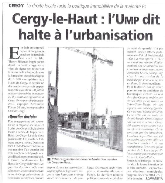 Article Gazette Cergy le Haut 06-10