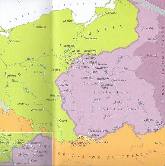 Carte Pologne sur les pas de Chopin